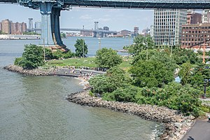 Brooklyn Bridge Park - The Main Street section of the park in Dumbo, July 2017