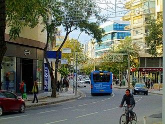 Makarios Avenue - Image: Makariou Avenue in Winter Nicosia blue bus Republic of Cyprus