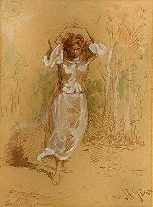 Balladyna (drama) - Balladyna by Maksymilian Gierymski, 1868