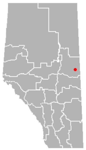 Mallaig, Alberta - Location of Mallaig