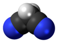 Spacefill model of malononitrile