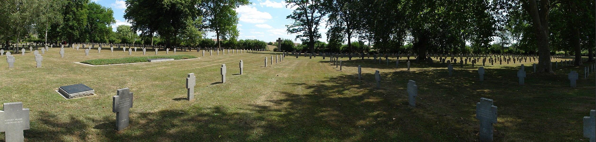 Mangiennes (Meuse) cimetière militaire allemand