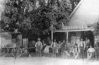Mankas Corner, California - Christley Mankas' store in the late 1800s was located at the same site as Mankas Corner today.
