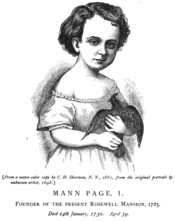 Old drawing of small child with bird
