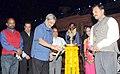 Manohar Parrikar lighting the lamp at the 6th Day of Rashtriya Sanskriti Mahotsav, in New Delhi on November 06, 2015. The Secretary, Ministry of Culture, Shri Narendra Kumar Sinha is also seen.jpg