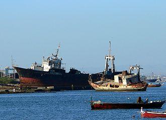 Manora, Karachi - A couple of abandoned ships at Manora Island