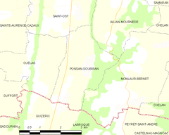Map commune FR insee code 32324.png