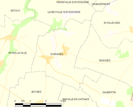 Mapa obce Givraines