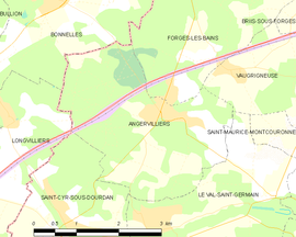 Mapa obce Angervilliers