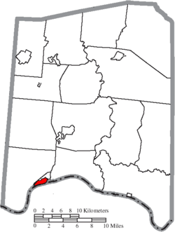 Location of Manchester in Adams County