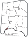 Map of Adams County Ohio Highlighting Manchester Village.png