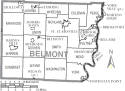 Map of Belmont County Ohio With Municipal and Township Labels.PNG