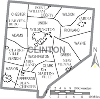 Municipalities and townships of Clinton County.