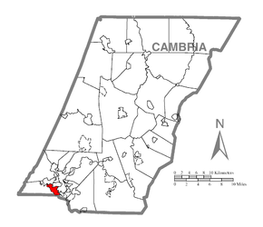 Map of Elim, Cambria County, Pennsylvania Highlighted.png