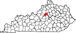 State map highlighting Anderson County