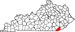 State map highlighting Bell County