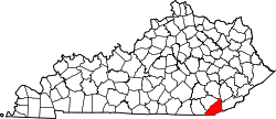 Map of Kentucky highlighting Bell County.svg