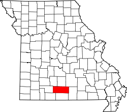 Map of Missouri highlighting Douglas County.svg