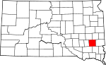 State map highlighting McCook County