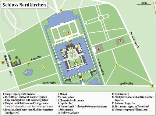 Map of the Castle Nordkirchen