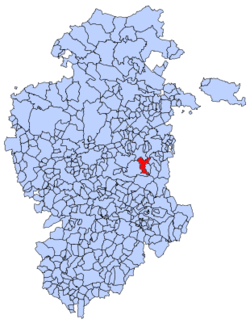 Municipal location of Rábanos in Burgos province