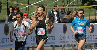 Rome Marathon - Runners passing the Circus Maximus during the 2006 edition