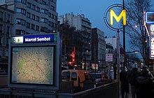 Marcel sembat m tro de paris wikimonde - Metro marcel sembat boulogne ...