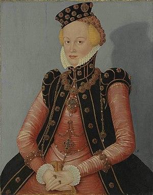Elisabeth of Brandenburg-Küstrin - Elisabeth of Brandenburg-Küstrin (painting by Lucas Cranach the Younger, 1579, Alte Pinakothek, Munich)