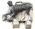 Maria Gail Pfarrkirche Vorhalle Suedwand aussen Steinrelief Mantikor mit Widder 12012008 08.jpg