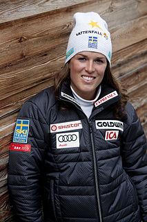 Maria Pietilä Holmner Swedish female alpine skier