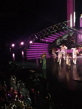 "Emotions (Mariah Carey album) - Carey performing ""Make It Happen"" in Florida, during her Adventures of Mimi Tour"