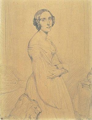 Marie d'Agoult - Portrait de Marie d'Agoult par Théodore Chassériau (Musée du Louvre)