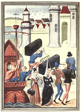 Maria van Coucy landt in Boulogne, 1399.