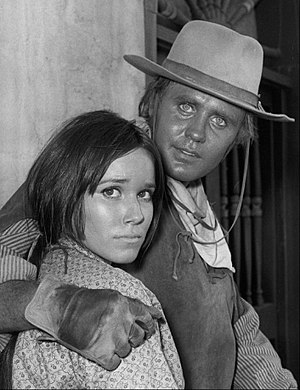Barbara Hershey - Hershey and Mark Slade in TV western The High Chaparral, 1968)