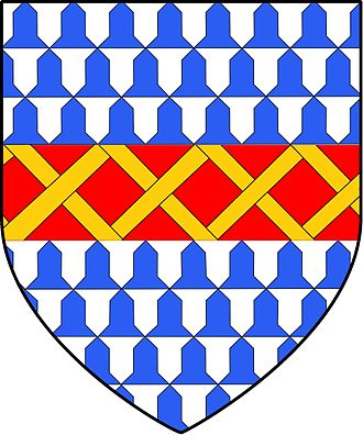 Philip Marmion, 5th Baron Marmion of Tamworth - Image: Marmion Coat of Arms Modified with Fretty Or