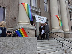 Marriage Equality Celebration, Lowndes County Courthouse 11.JPG