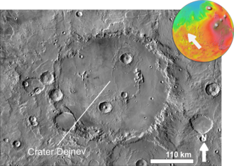 Dejnev - Impact crater Dejnev based on THEMIS day-time image.