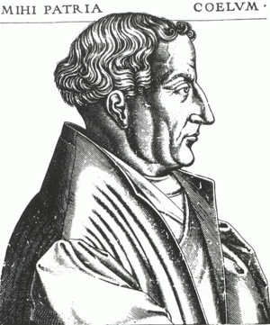 René Boyvin - Engraving of Martin Bucer at the age of 53.