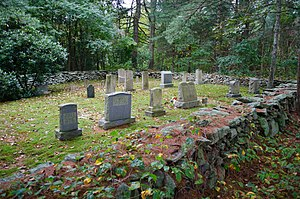 Martin Farm (Rehoboth, Massachusetts) - A cemetery just west of the Martin Farm; has many Martin graves