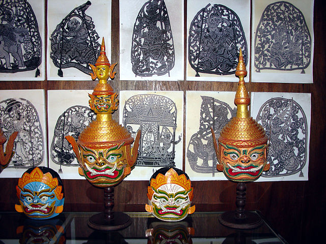 the complex holds examples of several arts and crafts of Cambodia ...