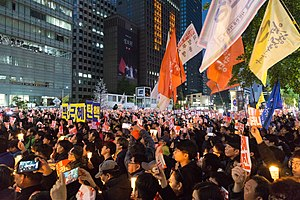 Impeachment of Park Geun-hye - Protest against Park Geun-hye in Seoul, 29 October 2016