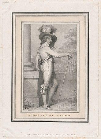 Horace Pitt-Rivers, 3rd Baron Rivers - Horace Beckford, 1793 portrait