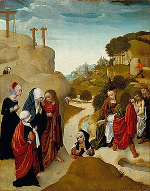 Master of the Virgo inter Virgines - Entombment of Christ, c. 1490.  Saint Louis Art Museum.