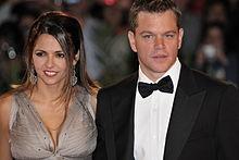 Matt Damon e la moglie Luciana Barroso alla 66ª Mostra internazionale d'arte cinematografica di Venezia (2009)
