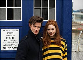 Matt Smith and Karen Gillan at Salford.jpg