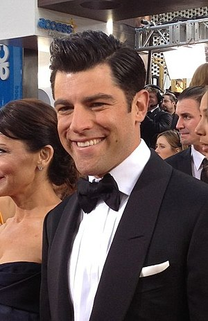 Max Greenfield - Greenfield at the Golden<br> Globe Awards in 2013
