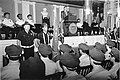 Mayor Raymond L. Flynn at podium in Faneuil Hall speaking to Boston Police Officers (10086133215).jpg