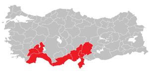Mediterranean Region (statistical) - Image: Mediterranean Region