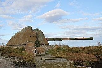 Allied Forces North Norway - Meløyvær Fortress 120mm Tornautomatpjäs m/70 automatic gun