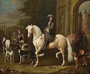 Johan Ortt (1642-1701) on Horseback outside the Gate of Nijenrode Castle